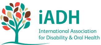 Logotipo da International Association for Disability and Oral Health (iADAH)